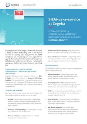 SIEM-as-a-service at Cegeka
