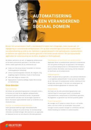 Automatisering in het sociaal domein