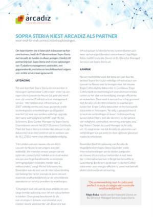 Sopra Steria kiest Arcadiz als partner voor end-to-end connectiviteitsoplossingen