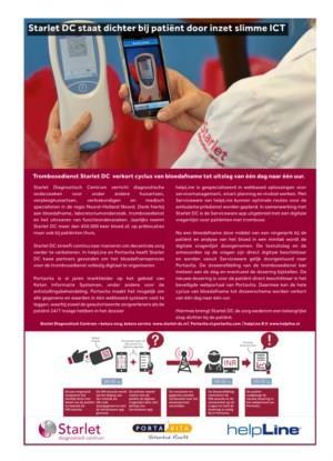Starlet dichterbij patiënt door slimme ICT