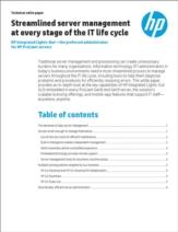 Gestroomlijnd server management in iedere fase van de IT levenscyclus