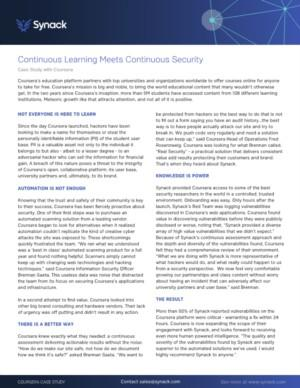 Synack (Crowdsourced Security Testing) Case Study Online-Education