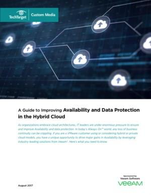 A Guide to Improving Availability and Data Protection in the Hybrid Cloud