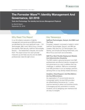 The Forrester WaveTM: Identity Management and Governance