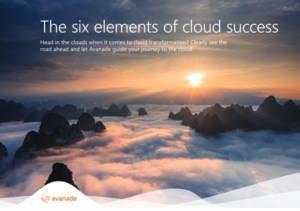 De 6 elementen van Cloud succes