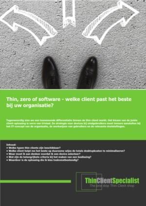 Thin-Zero-Software: Welke thin client past het beste bij uw organisatie