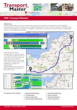 TMS TransportMaster: samen voorop in logistiek!
