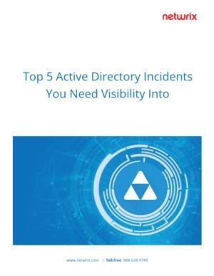 Top 5 Active Directory incidenten waar u zicht op moet hebben