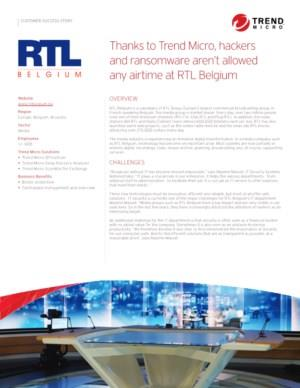 Thanks to Trend Micro, hackers and ransomware aren't allowed any airtime at RTL Belgium