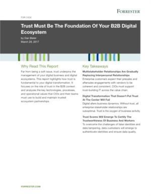 Vertrouwen is het fundament van uw digitale B2B ecosysteem