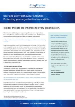 User & Entity Behavior Analytics (UEBA): uw organisatie van binnenuit beschermen