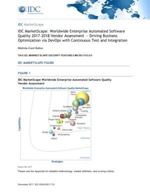 IDC MarketScape: Automated Software Quality (ASQ)