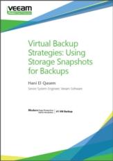 Virtual back-up strategieën: Gebruik storage snapshots als back-up voor virtuele omgevingen