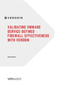 Validating VMware Service-defined Firewall effectiveness with Verodin