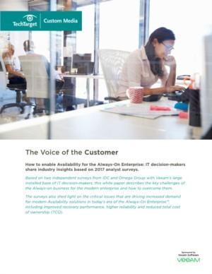 Understanding the voice of Veeam's customers