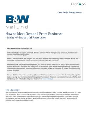 How to Meet Demand From Business - in the 4th Industrial Revolution