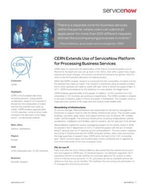 Servicemanagement voor de deeltjesversneller: de juiste keuze toegelicht