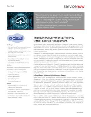 Overheidsefficiency verhogen dankzij IT Service Management