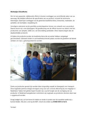 Werkwijze ChinaWorks
