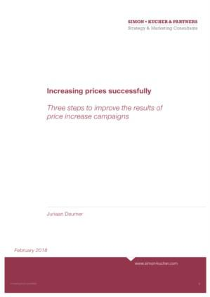 Increasing prices successfully