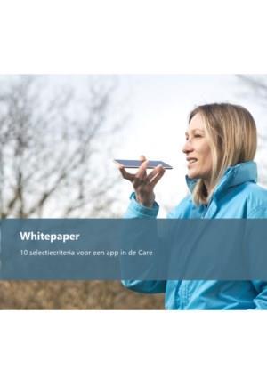 Whitepaper: 10 selectiecriteria voor een app in de Care
