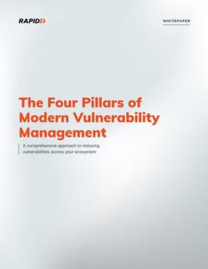 The Four Pillars of Modern Vulnerability Management - A comprehensive approach to reducing vulnerabilities across your ecosystem