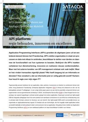 API platform: regie behouden, innoveren en excelleren