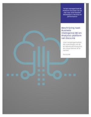 Beschrijving SaaS Business Intelligence (BI) en Analytics platform van EscuLine