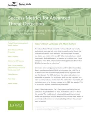 Success Metrics for Advanced Threat Detection