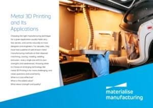 Metal 3D Printing and Its Applications