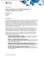 Hoe u kunt profiteren van SAP HANA Database en S / 4HANA op IBM Power Systems