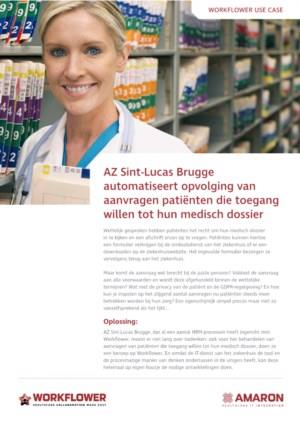 Ziekenhuis te Brugge automatiseert patiëntentoegang medisch dossier met AMARON Workflower