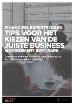 Tips van financieel experts voor het kiezen van de juiste Business Management Software