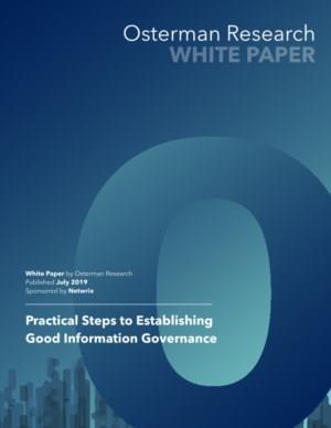 Practical Steps to Establishing Good Information Governance