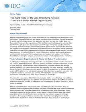 Vereenvoudiging van netwerktransformatie voor de middelgrote organisatie