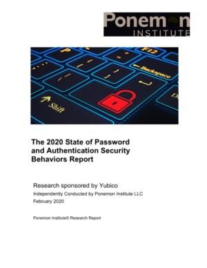 Yubico - the state of password and authentication security behavior report