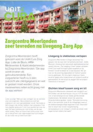 Zorgcentra Meerlanden live met Zorg App