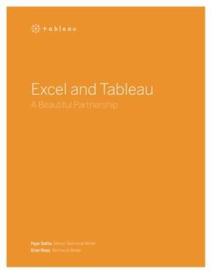 Excel en Tableau een mooi partnerschap