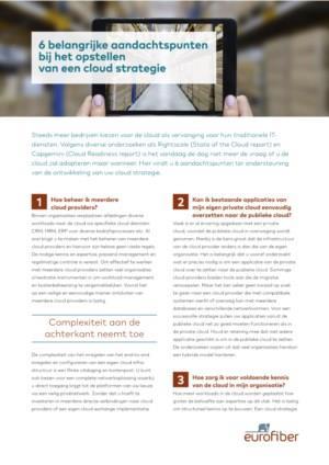 6 belangrijke aandachtspunten bij het opstellen van een cloud strategie