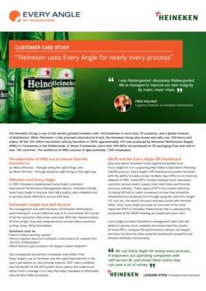 """""""Heineken gebruikt Every Angle voor bijna alle processen"""""""
