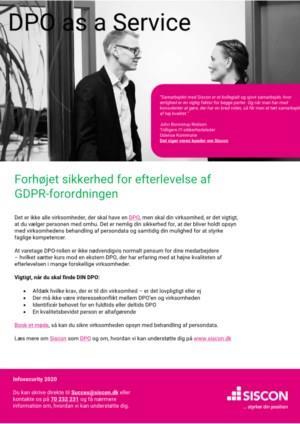 Forhøjet sikkerhed for efterlevelse af GDPR-forordningen