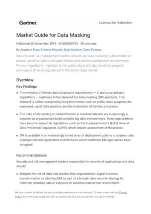 Data Masking: de volgende stap in data security