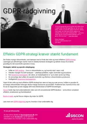 Effektiv GDPR-strategi kræver stærkt fundament