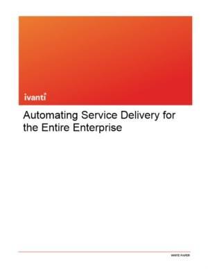 Automatisering van de Service Delivery voor de hele onderneming