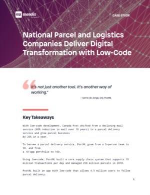 Nationale Pakket- en logistiekbedrijven maken digitale transformatie mogelijk met Low-Code