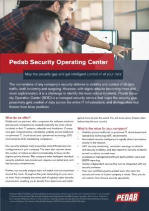 Pedab Security Operation Centre (SOC)