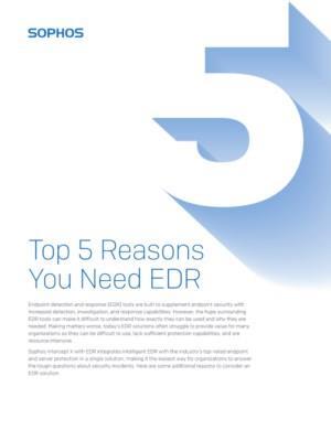 5 Top redenen waarom u EDR nodig heeft