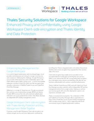 De beveiligingsoplossingen voor Google Workppace die alleen Thales biedt