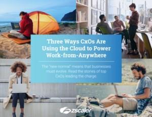 Drie manieren waarop CxO's de cloud gebruiken om overal vandaan te kunnen werken