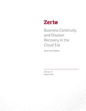 Bedrijfscontinuïteit en crisisherstel in het cloud-tijdperk